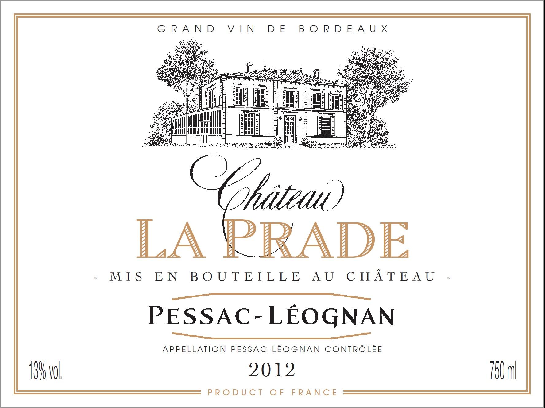 La Prade pessac leognan 2012